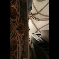 Chur, Kathedrale St. Mariae Himmelfahrt (Chororgel), Gewölbe mit Südgehäuse der Orgel