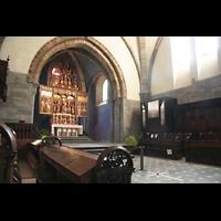 Chur, Kathedrale St. Mariae Himmelfahrt (Chororgel), Chorraum mit Chororgel