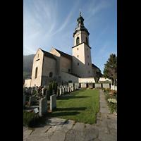 Chur, Kathedrale St. Mariae Himmelfahrt (Chororgel), Kirche mit Chor und Friedhof