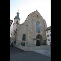 Chur, Kathedrale St. Mariae Himmelfahrt (Chororgel), Fassade mit Hauptportal