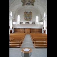 Näfels, St. Hilarius, Blick zur Orgel