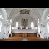 Näfels, St. Hilarius, Innenraum mit Orgel