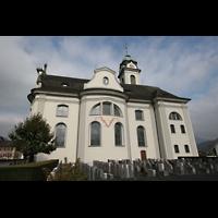 Näfels, St. Hilarius, Seitenansicht
