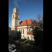Berlin - Pankow, Hoffnungskirche, Kirche vom Pfarrbüro aus