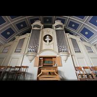 Berlin - Pankow, Hoffnungskirche, Orgelperspektive