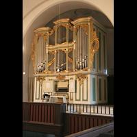 Berlin (Lichtenberg), Kirche zur frohen Botschaft, Karlshorst (Amalien-Orgel), Orgel von der Seitenempore aus