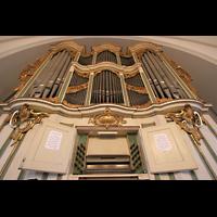 Berlin (Lichtenberg), Kirche zur frohen Botschaft, Karlshorst (Amalien-Orgel), Orgel mit Spieltisch
