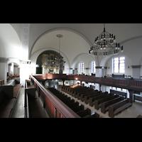 Berlin (Lichtenberg), Kirche zur frohen Botschaft, Karlshorst (Amalien-Orgel), Blick zur Orgel