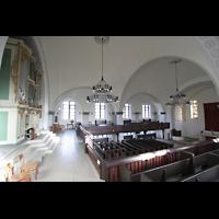 Berlin (Lichtenberg), Kirche zur frohen Botschaft, Karlshorst (Amalien-Orgel), Orgel und Innenraum