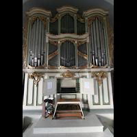 Berlin (Lichtenberg), Kirche zur frohen Botschaft, Karlshorst (Amalien-Orgel), Orgel und Spieltisch