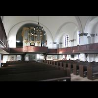 Berlin (Lichtenberg), Kirche zur frohen Botschaft, Karlshorst (Amalien-Orgel), Innenraum mit Orgel
