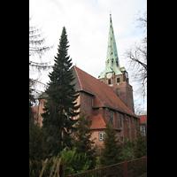 Berlin (Lichtenberg), Kirche zur frohen Botschaft, Karlshorst (Amalien-Orgel), Außenansicht zum Chor