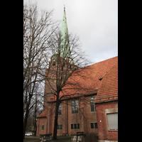 Berlin (Lichtenberg), Kirche zur frohen Botschaft, Karlshorst (Amalien-Orgel), Seitenansicht