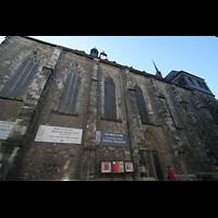 Halle (Saale), Konzerthalle (ehem. Ulrichskirche), Seitenansicht von der Leipziger Straße aus