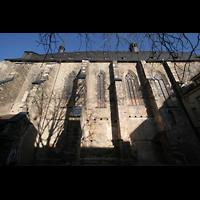 Halle (Saale), Konzerthalle (ehem. Ulrichskirche), Seitenansicht vom Kirchhof aus