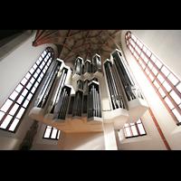 Halle (Saale), Konzerthalle (ehem. Ulrichskirche), Hauptorgel und Chorraum