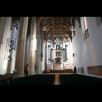 Halle (Saale), Konzerthalle (ehem. Ulrichskirche), Hauptschiff mit Sauer-Orgel