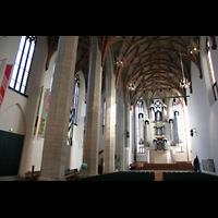 Halle (Saale), Konzerthalle (ehem. Ulrichskirche), Hauptschiff mit Hauptorgel