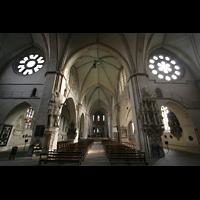 Münster, Dom St. Paulus, Blick von der Eingangshalle in den Innenraum