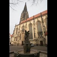 Münster, St. Lamberti (Hauptorgel), Seitenansicht mit Brunnen