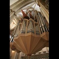 Münster, St. Lamberti (Chororgel), Orgelperspektive von unten
