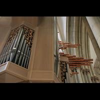 Münster, St. Lamberti (Chororgel), Seitlcihe Pedaltürme und Trompeteria
