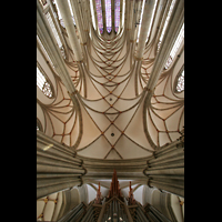Münster, St. Lamberti (Chororgel), Orgel und Deckengewölbe