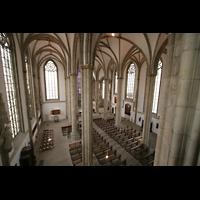 Münster, St. Lamberti (Hauptorgel), Blick von der Orgelempore in die Kirche