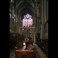 Xanten, Dom St. Viktor, Blick aus dem Chor zur Orgel