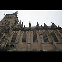 Xanten, Dom St. Viktor, Außenansicht von der Seite