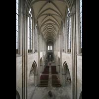 Magdeburg, Dom St. Mauritius und Katharina (Hauptorgel), Blick von der Orgelempore ins Hauptschiff