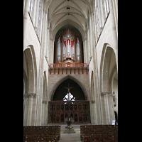 Magdeburg, Dom St. Mauritius und Katharina (Hauptorgel), Orgelempore an der Rückwand