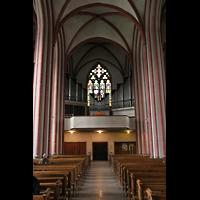 Bremen, Propsteikirche St. Johann, Innenraum / Hauptschiff in Richtung Orgel