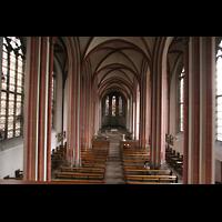 Bremen, Propsteikirche St. Johann, Blick von der Orgelempore ins Hauptschiff