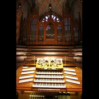 Bremen, Dom St. Petri (Klop-Orgel), Spieltisch und große Orgel