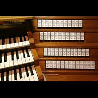 Bremen, Dom St. Petri (Klop-Orgel), Rechte Registerstaffel am Spieltisch