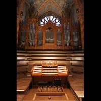 Bremen, Dom St. Petri (Klop-Orgel), Hauptorgel mit Spieltisch
