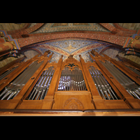 Bremen, Dom St. Petri (Klop-Orgel), Orgelprospekt und Deckenmalerei