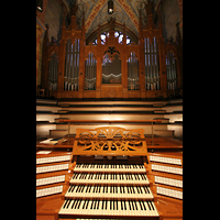 Bremen, Dom St. Petri (Klop-Orgel), Spieltisch und Hauptorgel