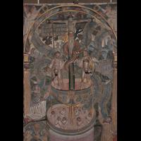 Bremen, Dom St. Petri (Klop-Orgel), Epitaph mit Darstellung des Heilsbrunnens