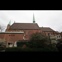 Bremen, Propsteikirche St. Johann, Seitenansicht