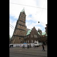 Bremen, Dom St. Petri (Klop-Orgel), Ansicht von der Domsheide aus