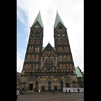 Bremen, Dom St. Petri (Klop-Orgel), Fassade mit Doppeltürmen