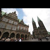 Bremen, Dom St. Petri (Klop-Orgel), Rathaus und Dom