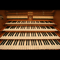 Bremen, Glockensaal, Manuale und mittlere Registerstaffel