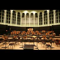 Bremen, Glockensaal, Bühne mit Orgel