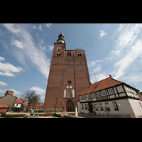 Tangermünde, St. Stephan, Fassade mit Turm
