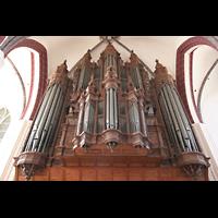 Tangermünde, St. Stephan, Scherer-Orgel von unten