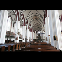Tangermünde, St. Stephan, Innenraum / Hauptschiff in Richtung Chor