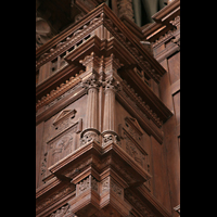 Tangermünde, St. Stephan, Detail der Balustrade am Rückpositiv